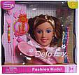 Кукла манекен для создания причесок DEFA 8056, в комплекте расческа и другие аксессуары (высота 17 см) 2 вида, фото 5