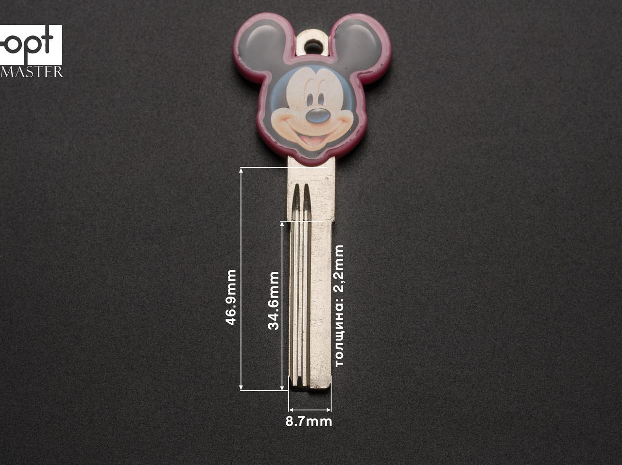 BAODEAN mickey mouse розовый (латунь) заготовка ключа