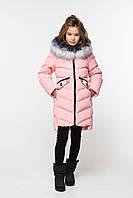 Зимнее качественное пальто для девочки Афина 2 на биопухе, разные цвета
