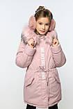 Зимний пуховик для девочки Китнисс. Куртка на флисе  Nui very, фото 3