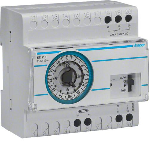Сумеречное реле с датчиком и аналоговым суточным таймером Hager EE003 (EE110)