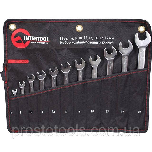 Набор комбинированных ключей 11 шт 6-22 мм Intertool XT-1003