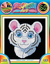 Набір для творчості Sequin Art 60 Білий тигр (SA1326)