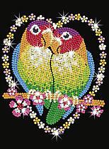 Набор для творчества Sequin Art Blue Попугаи Неразлучники SA1002