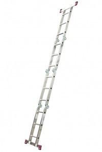 Лестница четырехсекционная алюминиевая бытовая KRAUSE Corda 4*3 ступеней