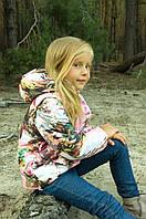Куртка-жилет для девочки (акварель розовая) оптом, фото 1
