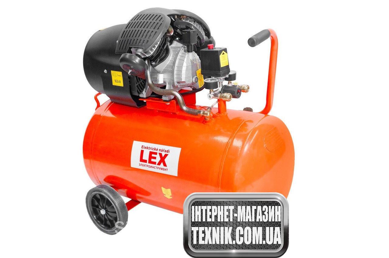 LEX компрессор LXC100V (100 літрів) Потужний компресор 2 Циліндра