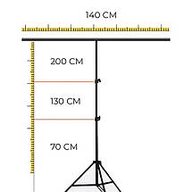 Стійка тримач для фону 140×200 см кріплення прищіпками, фото 3