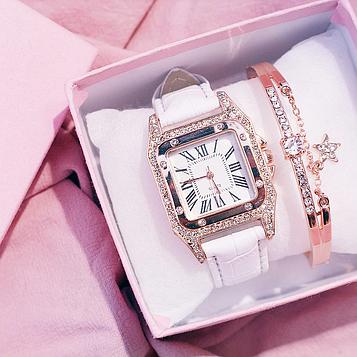 Комплект жіночий годинник і браслет код 516