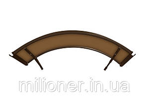 Навес для входных дверей Siker 900-I (900*1400) Brown, фото 2