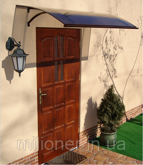 Навес для входных дверей Siker 900-S1 (900*1600) Brown, фото 2