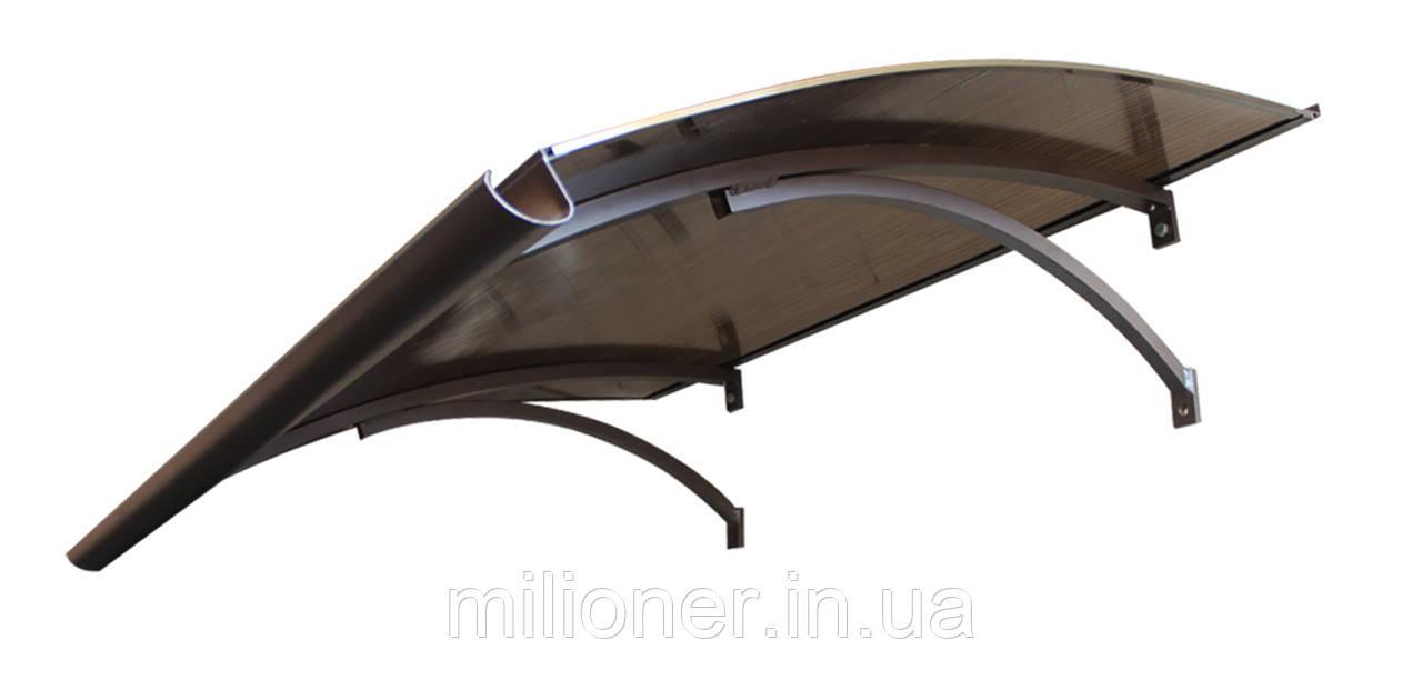 Навес для входных дверей Siker 900-S1 (900*1600) Brown