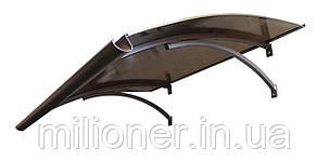 Навес для входных дверей Siker 900-S1 (900*1600) Коричневый , фото 2