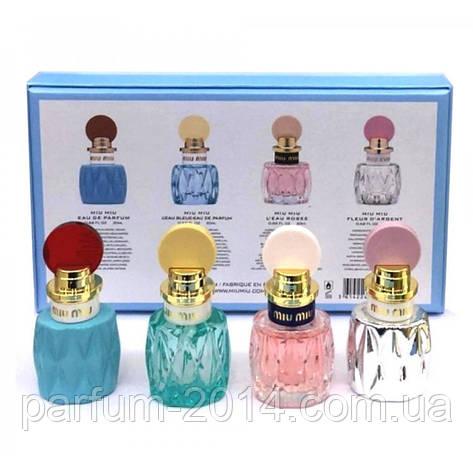 Женский подарочный набор мини-парфюмов Miu Miu 4x20 ml (реплика), фото 2