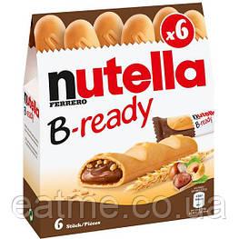 Nutella B-ready Вафельные батончики с шоколадно-ореховой пастой внутри