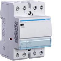 Контактор Hager 40A 4НВ 12В (ESL440)