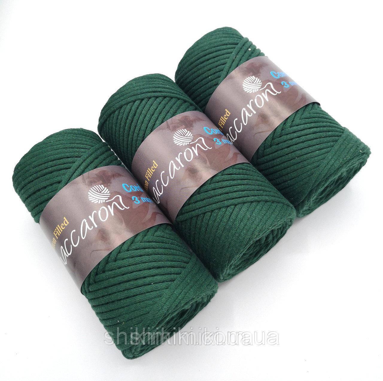 Трикотажный хлопковый шнур Cotton Filled 3 мм, цвет Изумруд