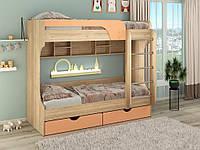 Двухъярусная кровать Юнга МДФ Пехотин, фото 1