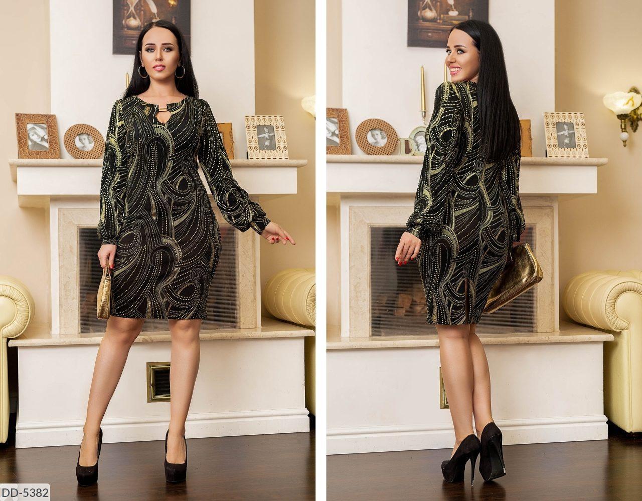Стильное платье     (размеры 48-62) 0221-64