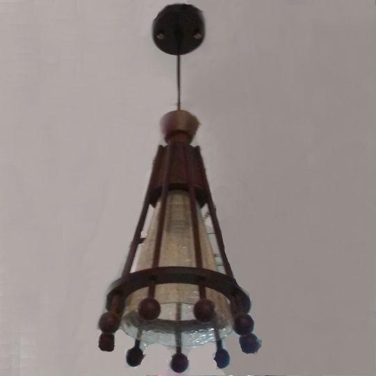 Люстра, 1 лампа, дерево