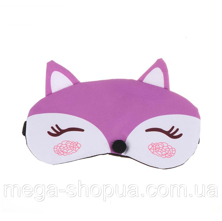 """Маска для сна и отдыха с ушками """"Fox Violet"""". Маска для сна и релакса"""