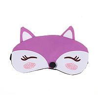 """Маска для сна и отдыха с ушками """"Fox Violet"""". Маска для сна и релакса, фото 1"""