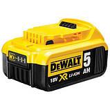 Аккумуляторная батарея DeWALT DCB184, 18 В, 5 Ач, время зарядки 50 мин,  вес 0.65 кг, фото 4