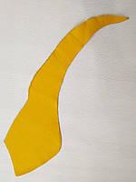 Шкіра натуральна для рукоділля Жовта 42*11см, №153, фото 1