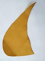 Шкіра натуральна для рукоділля Жовта 34*15см, №158, фото 1