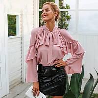 Красивая блуза с воланами L
