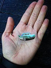 Термо наклейка, трансфер, наклейка на одежду Машина Тачки Фло, 1,8х4 см, фото 3