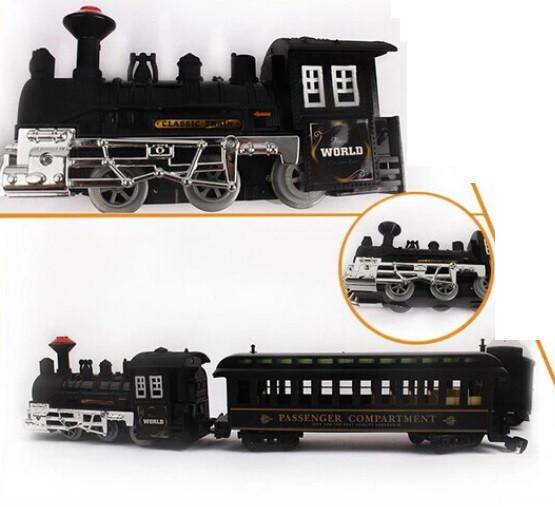 Детская железная дорога поезд, звук, свет прожектора