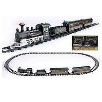 Детская игрушечная железная дорога поезд звук, свет прожектора 75-135см, фото 2