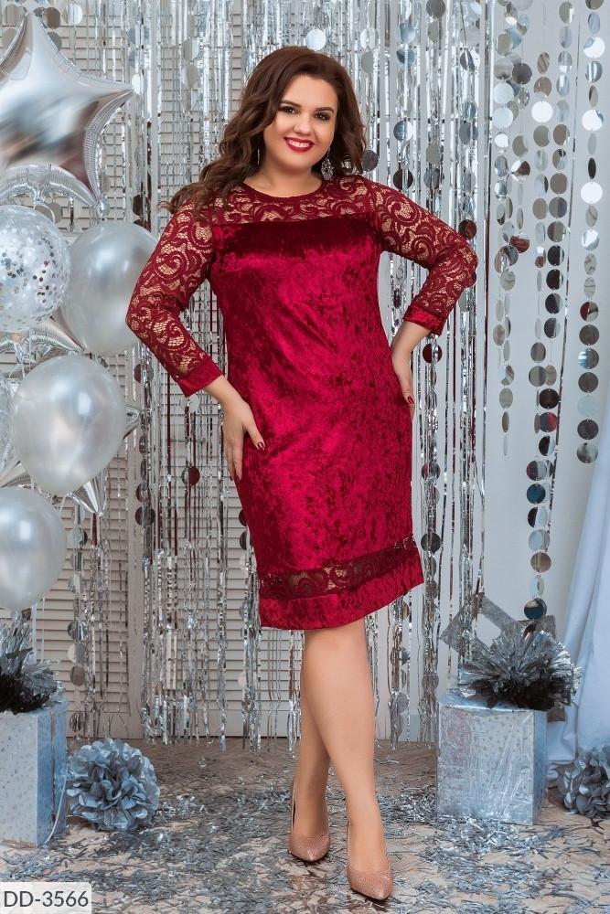 Стильное платье     (размеры 48-62) 0221-82