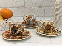 Кофейный набор рисованный эспрэссо