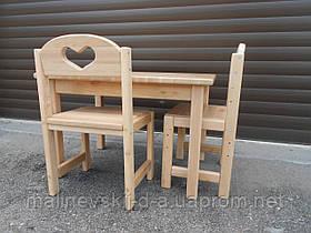Комплект Растишка Стол 50*60 с закруглёнными углами и стульчик Сердечко