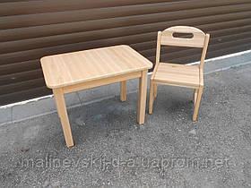 Комплект Растишка Стол 50*60 с закруглёнными углами и стульчик ОВАЛ