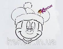 Трафарет Мышка Санта
