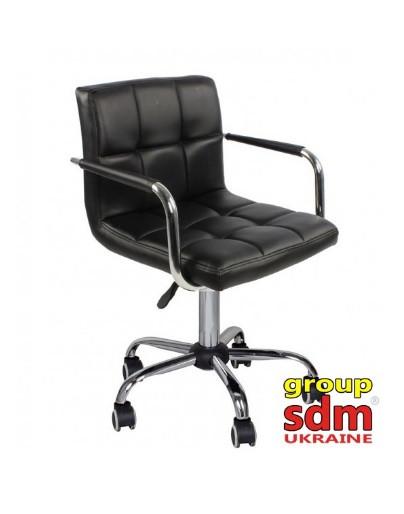 Кресло мастера Артур черное на колесах от SDM Group, экокожа