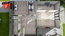 Офисное здание 133 м2, по модульной технологии, на основе цельно-сварного металлокаркаса., фото 3