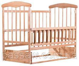 Кровать детская Наталка маятник, откидной бок ольха светлая