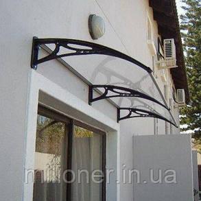 Навес для входных дверей Siker 700-N (700*1000) Black, фото 2