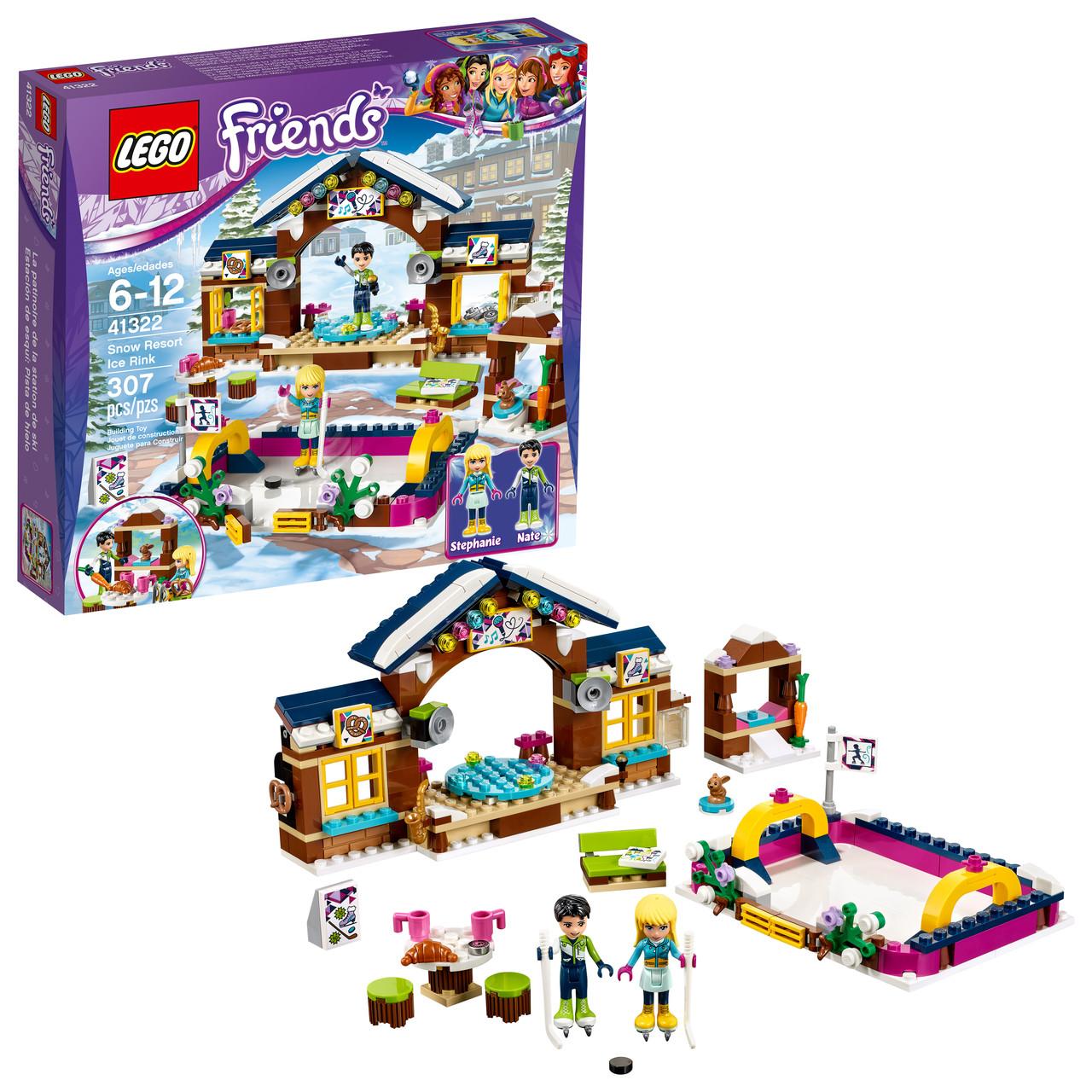 Lego 41322 Горнолыжный курорт: Каток  Snow Resort Ice Rink Лего френдс Хартлейк-Сіті