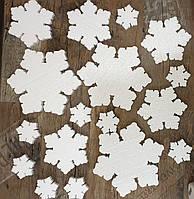 Набор снежинок  30, 20 и 10см Всего 17 шт