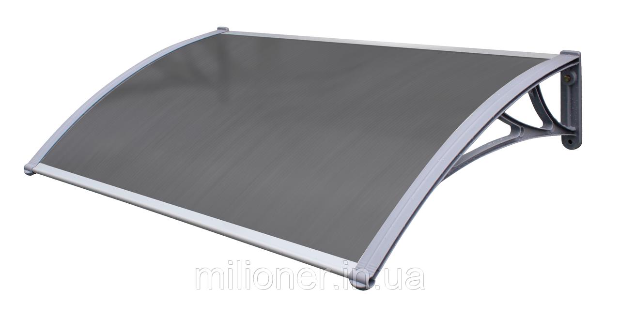 Навес для входных дверей Siker 1000-С (1000*1200) Grey