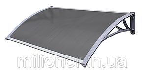 Навес для входных дверей Siker 1000-С (1000*1200) Grey, фото 2