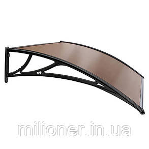 Навес для входных дверей Siker 1000-С (1000*1500) Black, фото 2