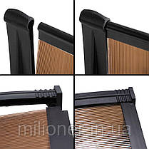 Навес для входных дверей Siker 1000-С (1000*1500) Black, фото 3