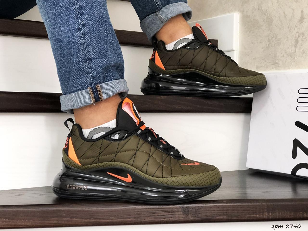 Мужские зимние кроссовки Nike Air Max 720 (темно-зеленые)