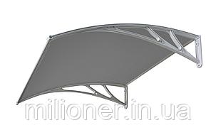 Навес для входных дверей Siker 1000-С (1000*1500) Grey, фото 2